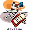 script and movie star's chair Vector Clip Art image