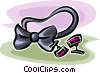 bow tie and cuff links Vector Clip Art picture