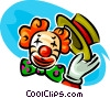 Vector Clipart graphic  of a Funny clown