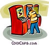 Vector Clip Art image  of an arcade/video game