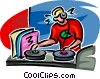 disk jockey Vector Clipart picture