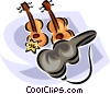 Vector Clipart graphic  of a violins
