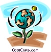 Vector Clipart graphic  of a global responsibility