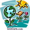 global responsibility Vector Clipart illustration