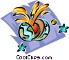 earth core Vector Clipart graphic