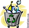 Vector Clipart illustration  of a recycle box