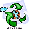 Vector Clipart picture  of a recycle to save the earth