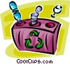 selective recycle box Vector Clip Art graphic