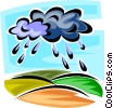 Vector Clipart illustration  of a rain