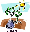Vector Clip Art image  of a Seeds and Planting