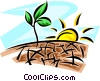 Vector Clipart illustration  of a Crops