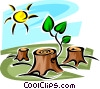 Vector Clipart illustration  of a Forestry and Logging