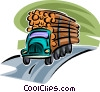 Vector Clipart image  of a Forestry and Logging
