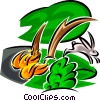 Forest Fires Vector Clipart illustration