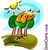 forest fire Vector Clip Art picture