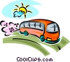 Vector Clipart image  of a Urban Transportation