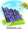 Solar Vector Clip Art graphic
