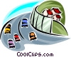 Infrastructure Roads and Highways Vector Clipart graphic