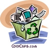 Vector Clipart image  of a Blue Boxes or Recycle Box
