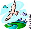 Vector Clipart picture  of a Seagulls