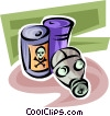 Vector Clip Art picture  of a Toxic Chemicals
