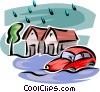 Floods Vector Clip Art graphic