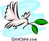 Doves of Peace Vector Clipart graphic