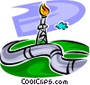 Vector Clip Art graphic  of a Pipelines