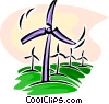 Windmills Vector Clipart illustration