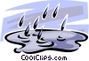 Rain Vector Clipart illustration