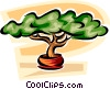 Vector Clip Art graphic  of a Bonsai Trees