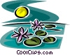 Vector Clip Art image  of a Exotic Trees and Plants