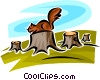 Squirrels Vector Clip Art picture