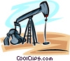Oil Wells Vector Clipart illustration