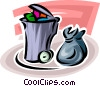 Vector Clipart picture  of a Garbage Waste Trash