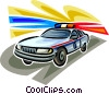 Vector Clip Art image  of a Police Cars