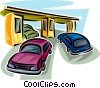 Vector Clip Art graphic  of a Toll Booths
