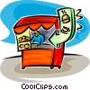 fast food vendor Vector Clipart image