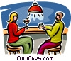 couple sitting at the bar Vector Clipart graphic