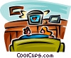 couple watching TV Vector Clip Art picture