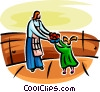 Vector Clip Art picture  of a Mother and child with fresh