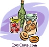 Vector Clip Art image  of a jars of preserves