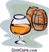 snifter of cognac Vector Clipart picture