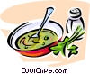 Vector Clipart image  of a bowl of soup