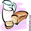 Vector Clipart picture  of a jug of milk and bread