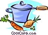 pot of vegetable soup Vector Clip Art picture