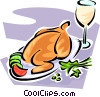 Vector Clipart picture  of a roast poultry
