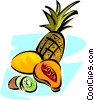 different fruit Vector Clipart image