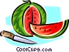 watermelon Vector Clipart graphic
