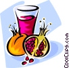 Vector Clipart illustration  of a pomegranate